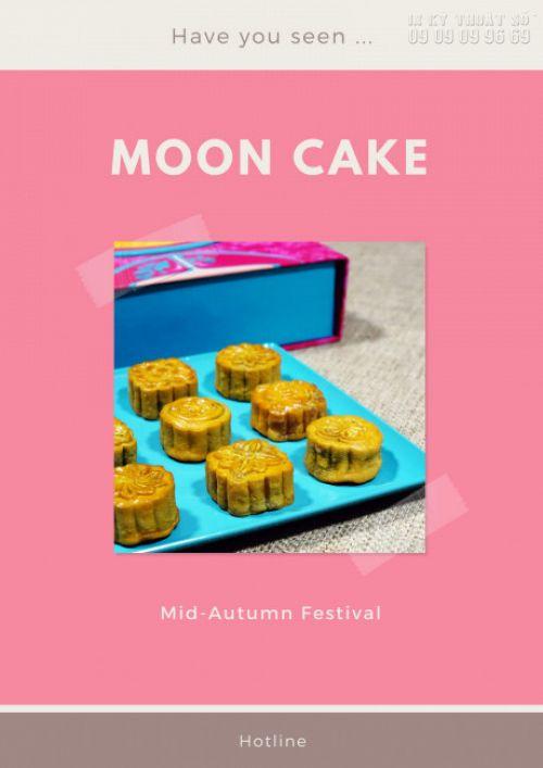 Mẫu poster Trung Thu dán cửa kính: Moon Cake (2)