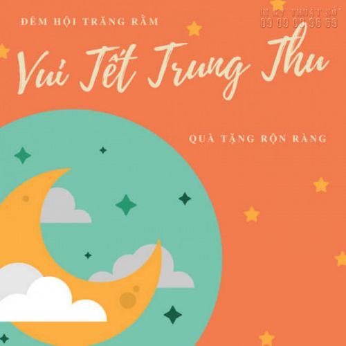 Mẫu poster Trung Thu dán cửa kính: Đêm Hội Trăng Rằm - Vui Tết Trung Thu - Quà Tặng Rộn Ràng