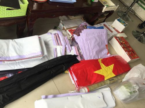 Xưởng in băng rôn lấy ngay - In Kỹ Thuật Số nhận in băng rôn số lượng lớn chào mừng quốc khánh 2/9 TPHCM