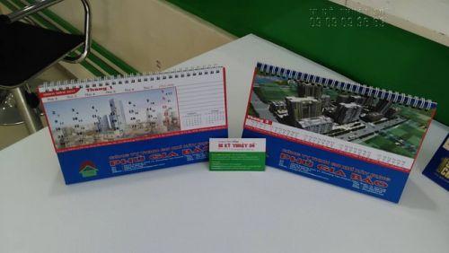 Mẫu thành phẩm in lịch 2019 - mẫu in lịch để bàn cho công ty, doanh nghiệp - từ In Kỹ Thuật Số
