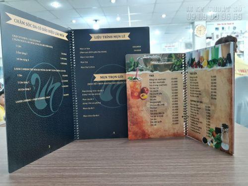 In menu giấy Kraft, in menu cổ điển, in menu phong cách hoài cổ, 1357, Thanh Thúy, InKyThuatso.com, 31/10/2018 13:54:10