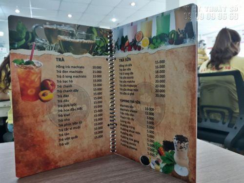 In menu treo tường - Thiết kế menu treo tường, bảng menu cafe, trà sữa 4