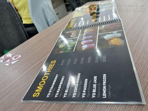 In menu treo tường - Thiết kế menu treo tường, bảng menu cafe, trà sữa 6