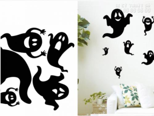 In decal trang trí Halloween cho quán cafe - Thiết kế decal Halloween ấn tượng 5