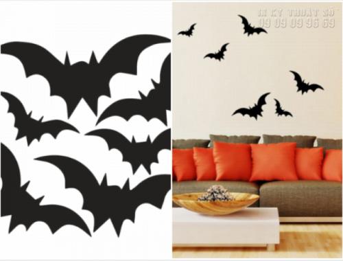 In decal trang trí Halloween cho quán cafe - Thiết kế decal Halloween ấn tượng 6
