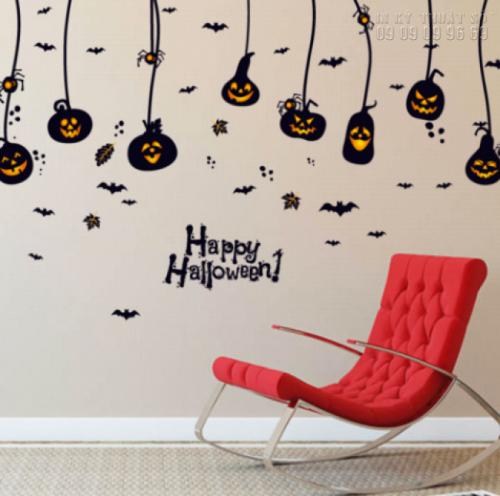 In decal trang trí Halloween cho quán cafe - Thiết kế decal Halloween ấn tượng 7