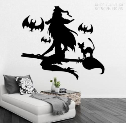 In decal trang trí Halloween cho quán cafe - Thiết kế decal Halloween ấn tượng 8