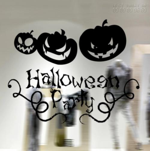 In decal trang trí Halloween đơn giản - In decal trang trí mọi số lượng 1