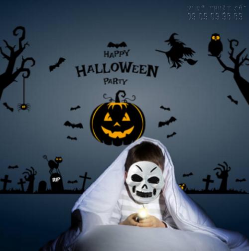 In decal trang trí Halloween đơn giản - In decal trang trí mọi số lượng 2