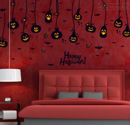 In decal trang trí Halloween đơn giản - In decal trang trí mọi số lượng 4