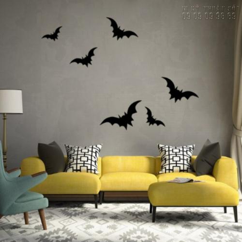 In decal trang trí Halloween đơn giản - In decal trang trí mọi số lượng 5