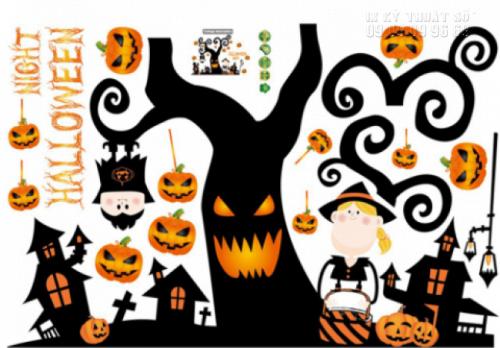 In decal trang trí Halloween tại nhà - Nhận in decal trang trí lẻ 1