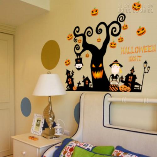 In decal trang trí Halloween tại nhà - Nhận in decal trang trí lẻ 2