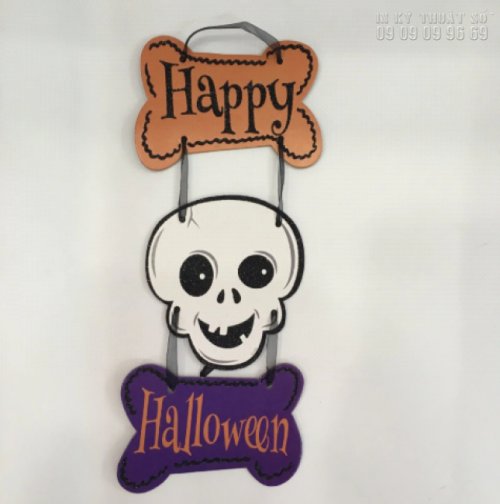 In format HCM làm mô hình Halloween: hình đầu lâu, con ma, bí ngô, dơi, phù thủy, xác ướp, nhện 2