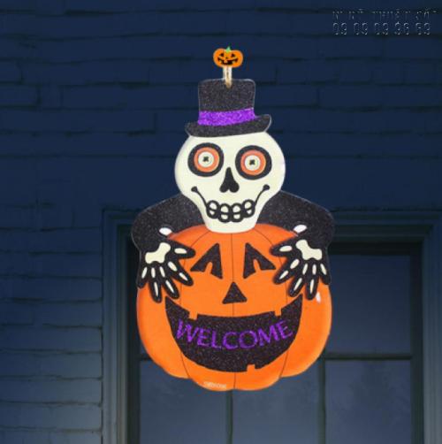In format HCM làm mô hình Halloween: hình đầu lâu, con ma, bí ngô, dơi, phù thủy, xác ướp, nhện 3