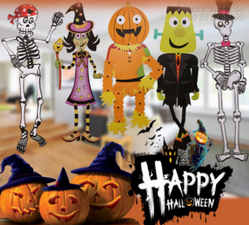 In PP cán format giá rẻ TPHCM - Bảng chữ Halloween 1