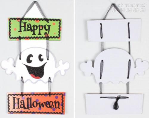 Giá in format - Làm biển hiệu treo cửa trang trí Halloween 7