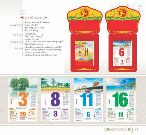 In lịch treo tường giá rẻ - Báo giá in lịch treo tường TPHCM 3