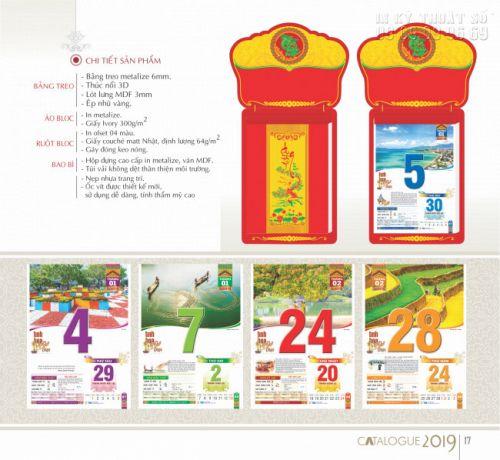 Thiết kế lịch treo tường theo chủ đề cho công ty, doanh nghiệp, cơ quan, đoàn hội TPHCM 2