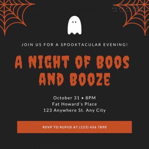 Giá in thiệp mời sự kiện Halloween Party 2