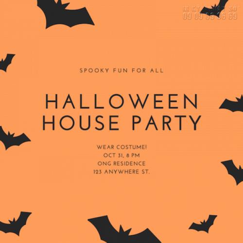 Giá in thiệp mời sự kiện Halloween Party 3