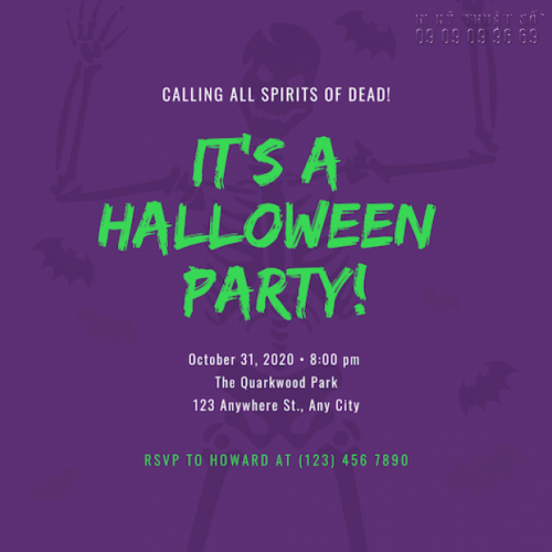 Giá in thiệp mời sự kiện Halloween Party 5