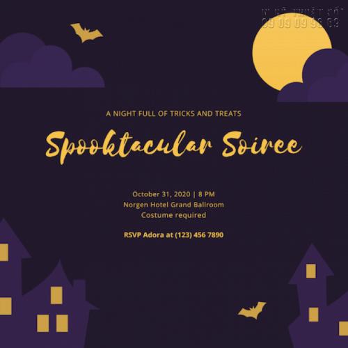 Giá in thiệp mời sự kiện Halloween Party 6