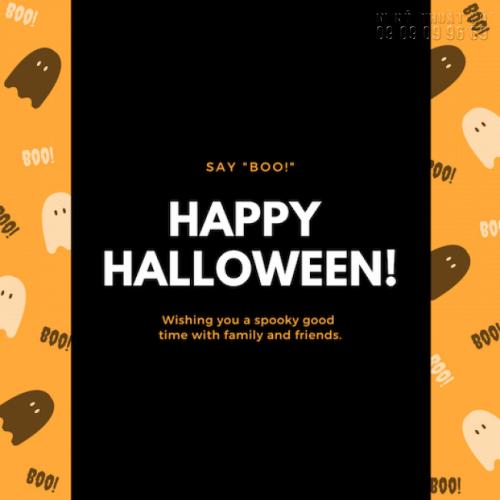 In thiệp mời giá rẻ - Nhận in thiệp mời Halloween Party số lượng ít 2