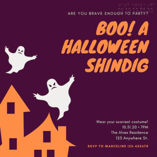 In thiệp mời giá rẻ - Nhận in thiệp mời Halloween Party số lượng ít 4