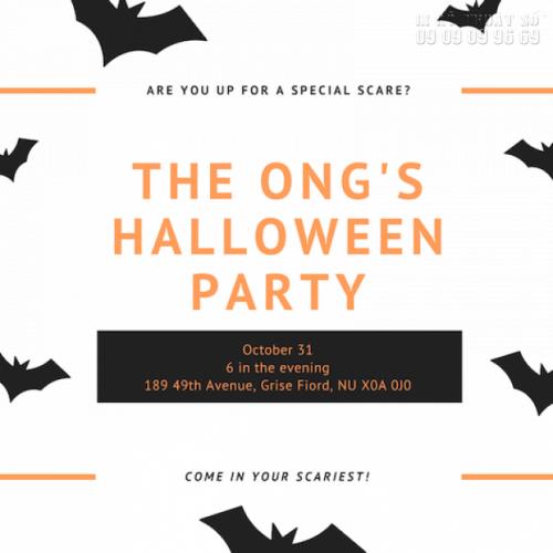 In thiệp mời giá rẻ - Nhận in thiệp mời Halloween Party số lượng ít 5
