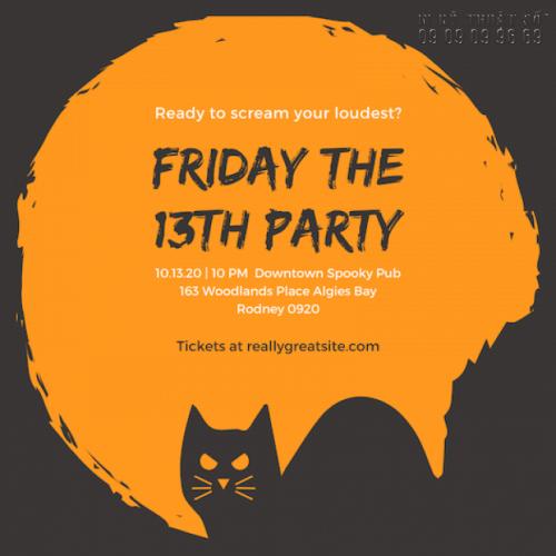 In thiệp mời Halloween - Nhận thiết kế thiệp mời Halloween Party rùng rợn, độc lạ 1