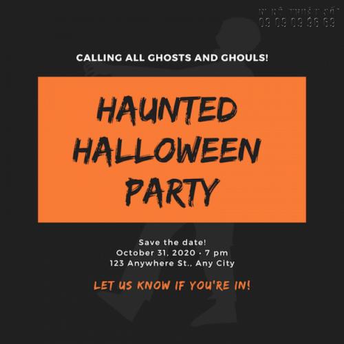 In thiệp mời Halloween - Nhận thiết kế thiệp mời Halloween Party rùng rợn, độc lạ 5