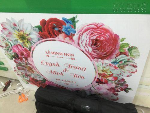 In bảng tên cô dâu chú rể TPHCM 2