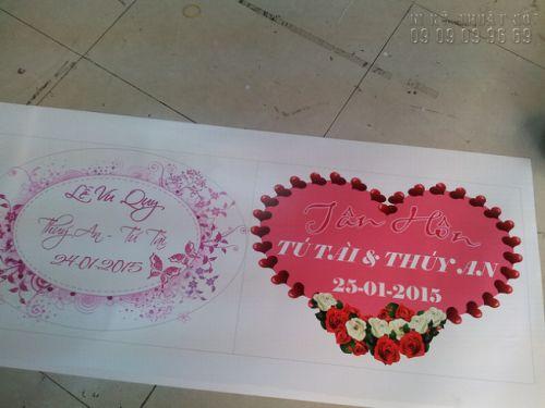Giá in bảng tên cô dâu chú rể TPHCM 5