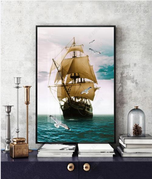 Xưởng in tranh canvas thuận buồm xuôi gió