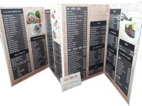 Bảng báo giá In thực đơn/menu, 812, Huyen Nguyen, InKyThuatso.com, 08/12/2017 15:11:30