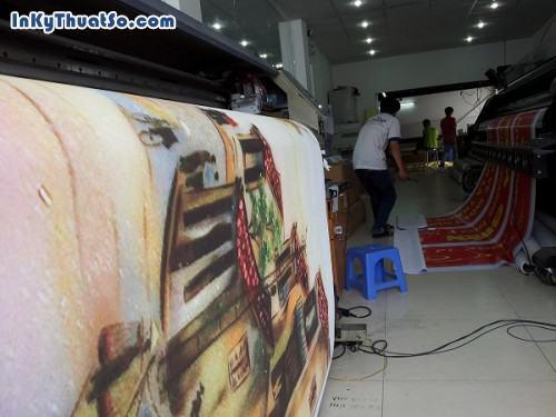 Bức tranh sơn dầu Phố cổ Hà Nội với chất liệu canvas từ in tranh treo tường khổ lớn, 604, Huyen Nguyen, InKyThuatso.com, 09/01/2015 17:14:23