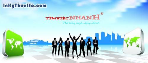 In banner bằng PP cán formex cho công ty TìmViệcNhanh, 444, Minh Trần, InKyThuatso.com, 23/07/2014 17:34:09