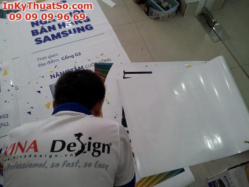 In kỹ thuật số trên chất liệu PP làm poster cho trương trình 'Ngày hội bán hàng Samsung', 667, Huyen Nguyen, InKyThuatso.com, 24/10/2014 13:24:40