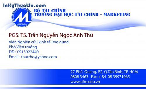 In Name card bằng giấy Couche cao cấp cho Đại Học Tài Chính Marketing, 432, Minh Trần, InKyThuatso.com, 10/03/2016 11:07:56