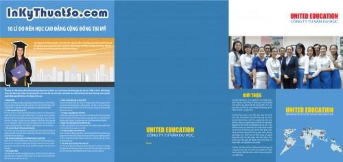 In tờ rơi bằng giấy couche cao cấp cho Công ty Tư vấn Du học United Education, 424, Minh Trần, InKyThuatso.com, 29/03/2014 11:50:12