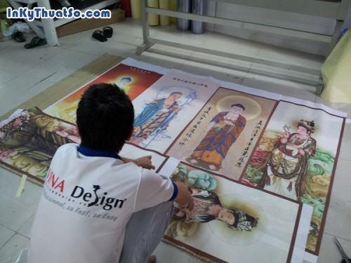 In tranh nghệ thuật chất liệu vải silk hình Quan Âm Bồ Tát, 598, Huyen Nguyen, InKyThuatso.com, 09/01/2015 16:56:56