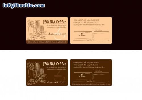 In Voucher giảm giá bằng thẻ nhựa PVC cho Phố Nhỏ Coffee, 452, Minh Trần, InKyThuatso.com, 23/02/2018 09:41:30