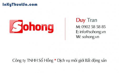 In Namecard cho Công Ty BĐS Sổ Hồng, 462, Minh Trần, InKyThuatso.com, 09/08/2014 12:45:14