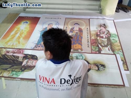 Phật Bà qua tranh in nghệ thuật từ chất liệu vải silk, 609, Huyen Nguyen, InKyThuatso.com, 09/01/2015 16:57:55
