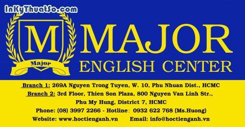 Poster Trung tâm Anh ngữ Major, 126, Vũ Ngọc Hùng, InKyThuatso.com, 29/03/2014 11:41:53