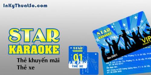 Thẻ xe - Thẻ khuyến mãi Karaoke Star, 119, Hữu Tín, InKyThuatso.com, 29/03/2014 11:25:40