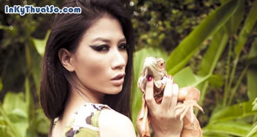 Trang Trần, tạo dáng cùng bò sát, 275, Canhle, InKyThuatso.com, 19/02/2013 15:37:15
