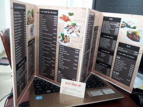 Mẫu menu cafe in PP bồi formex