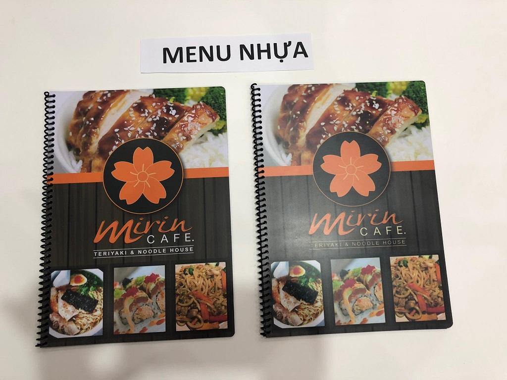 Mẫu menu quán ăn đẹp sang trọng